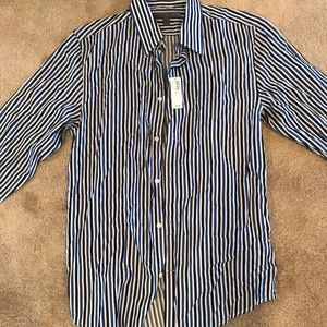 Old navy casual button up down dress shirt Sz M